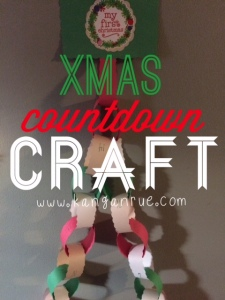 A simple countdown to Christmas paper craft!
