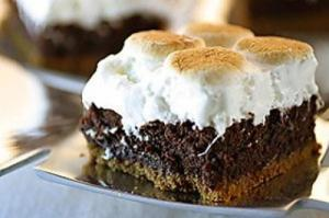 S'more Brownies Using Left Over Halloween Candy