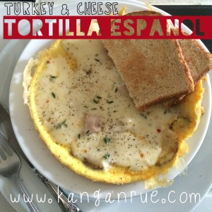 Turkey & Cheese Tortilla Espanol Recipe!