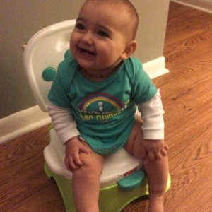 Rue's first time on the potty! She loved it!