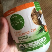 Melt 1T unrefined coconut oil